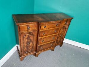 An Antique Reprodux Bevan Funnell Break Front Sideboard ~Delivery Available~