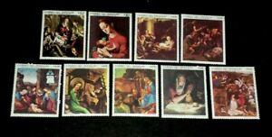 PARAGUAY#1210-1218, 1969, ART, FAMOUS PAINTINGS, SET/9 SINGLES, MNH, NICE!  LQQK