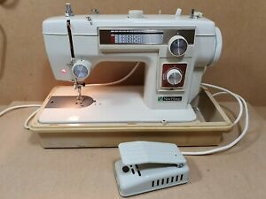 Vintage New Home Janome 551 Fancy Stitch Heavy Electric Sewing Machine