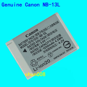 Genuine Canon NB-13L Battery For PowerShot G7XII G9XII G5XII SX620 SX730 SX740