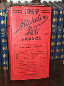 Superbe guide rouge Michelin  1959 proche du neuf. Voir photos.