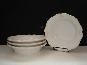 NEW Princess House Pavillion  4 Ceramic Pasta Bowls  1320  WOB