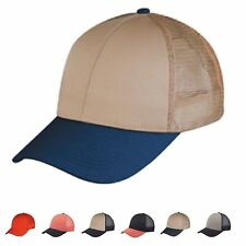 1 Dozen Low Crown Cotton Twill 6 Panel Mesh Baseball Trucker Hats Wholesale Bulk