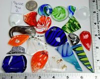 9 OUNCES AS PICTURED LOT 2 FUSED GLASS CHIPS STONES 96 COE SOME SHARP EDGES