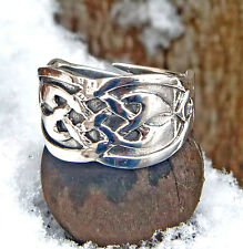 massiv keltischer Silberring 925 Silber Gr.60-70 verstellbar Keltenring