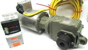 1/2 hp BALDOR WASH DOWN ELECTRIC MOTOR w/ 20:1 STOBER GEARBOX & POWER FLEX (A04)