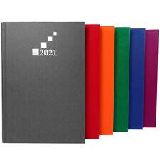 Buchkalender 2021 DIN A5 Terminplaner Wochentimer Anthrazit, Blau, Grün, Rot