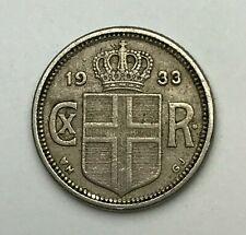 Date: 1933-Islande 10 Aurar-Dix Aurar coin-Christian X