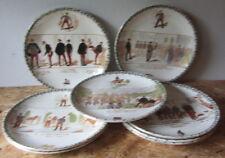 Otto antichi piatti militari -  plate - assiette HB&C Terre de fer