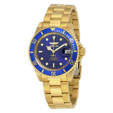 Invicta Pro Diver Automatic Blue Dial Yellow Gold-plated Men's Watch 8930OB