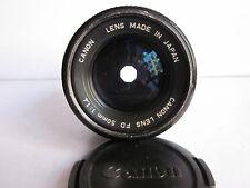 Canon 50mm f1.4 FD Mt Manual focus lens w front cap.Nice