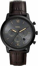 Fossil Men's Neutra Fs5579 44mm Black Dial Leather Watch