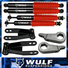 "3"" + 2"" Lift Leveling WULF Shocks Kit 1998-2011 Ford Ranger 4X4 4WD Shackles"
