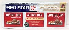 Red Star Active Dry Yeast Strip of three 1/4oz packets