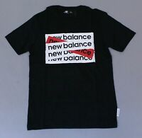 New Balance Men's Short Sleeve Crew Neck Box QTT Tee T-Shirt TM8 Black Small NWT