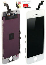 TOUCH SCREEN,LCD DISPLAY RETINA + FRAME PER APPLE IPHONE 5 VETRO modello BIANC