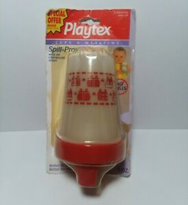 """Rare Vintage 1990""""s Playtex 6oz Spill-Proof Cup Red Sip Spout 1995"""