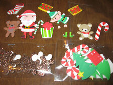 Foam stickers 42 pc Christmas Gingerbread men, trees, candy canes........[1]