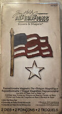Sizzix Tim Holtz Alterations Movers & Shapers Magnet Die Flagge Old Glory Dtanze