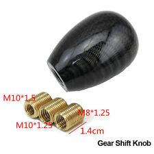 Car Round Ball Shape Real Carbon Fiber Aluminum Gear Shift Knob +Adapters Kits