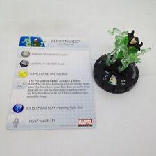 Heroclix Amazing Spider-Man set Baron Mordo #043 Super Rare figure w/card!