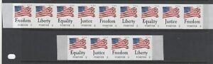 U.S. #4633-4636 - 2012 Four Flags MNH PNC9 + Mint NH Strip of Four