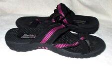 New *SKECHERS* Black/Fuchsia Trim,Adjustable Strap, Thong Type, Sandals 10M