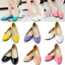 Womens Ballerina Ballet Candy Dolly Pumps Flats Pointy Toe Loafers Casual Shoes