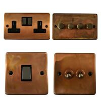 Tarnished Copper CTC3 Light Switches, Plug Sockets, Dimmer Switch, Cooker, Fuse