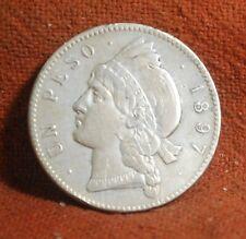 1897 A (Paris) Extra Fine Dominican Republic Silver 25 Gramos