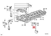 Genuine BMW Profile-Gasket MINI Cooper One R50 R52 R53 11141485162