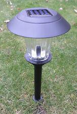 LED Solare Lampada da giardino vetro vero solarlame ALLUMINIO Nero (F290)