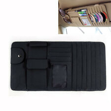 Black New Car Interior Sun Visor Multifunction Leather DVD Case CD Folder Pocket