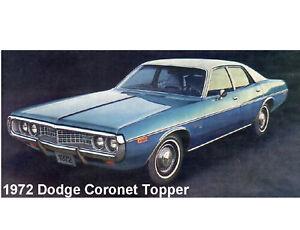 1972 Dodge Coronet Topper X  Auto  Refrigerator / Tool Box  Magnet