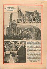 Cardinal Binet Archevêque Inauguration Cathédrale de Soissons  1931 ILLUSTRATION