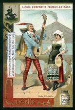 Rome Italy Carnival - Caviello Mask Costume c1890 Trade Ad Card
