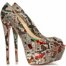 Christian Louboutin Highness 160 Carnival Python snakeskin shoes EU36.5UK3US5