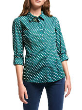 EX SEASALT Green Polka Dot Organic Cotton Larissa Shirt in Sizes 8-20 RRP £45