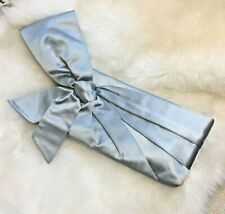 Authentic VALENTINO GARAVANI Satin Bow Clutch Evening Bag Sky Blue