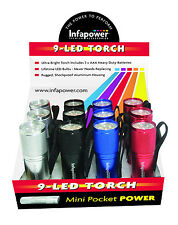Infapower F006 9 LED Pocket Torch - Pack of 12