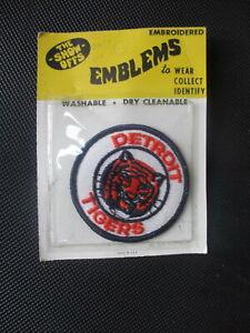 Vintage 1970's Detroit Tigers Emblem Patch in Original Package