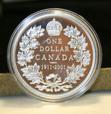 1911 - 2001 Canada Proof Sterling Silver Dollar Coin by RCM