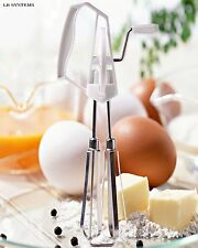 Stainless Steel Egg Beater Rotary Hand Whisk & Mixer Rotary Handheld Cooking aid