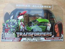 Transformers movie ROTF Human Alliance Autobt Skids Arcee w Mikaela Banes MISB