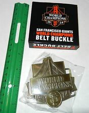 SF GIANTS BELT BUCKLE SAN FRANCISCO WORLD CHAMPIONS 2014 SGA NEW 9/16 2015 NIB