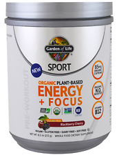 NEW GARDEN OF LIFE SPORTS ORGANIC PLANT-BASED ENERGY + FOCUS PRE WORKOUT DAILY