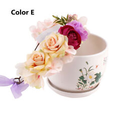 Baby Bohemia Flower Floral Hairband Kids Crown Headband Party Wedding Headwear Color E