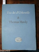 Hardy Thomas Tess dei d'Urberville Torino Einaudi 1950