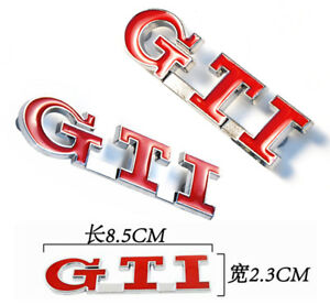 3D Metal Car Auto Truck Emblem Red Front Grille Grill Badge GTI GOLF MK1 MK2