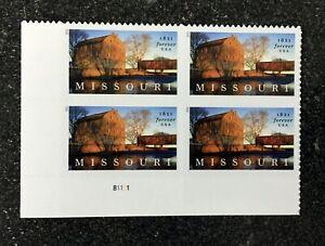 2021USA Forever Missouri Statehood - Plate Block of 4  mint  barn